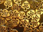 Made with Love Heart Charms Gold Tone Pk of 50 Pieces Crafts Supply