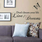 Dont Dream Your Life Butterfly Dots Wall Stickers Quotes Wall Decals Wall Art
