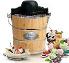 Elite Gourmet EIM 502 4 Quart Old Fashioned Ice Cream Maker With Electric Motor