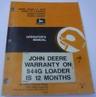 John Deere 544G, 544G LL, 544G TC, 624G, 644G Loader Operators Owners Manual JD