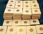 Lot of 377 Old Mercury Dimes 1910s-1940s in coin folders 90% silver