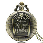 Copper The Nightmare Before Christmas Men Quartz Pocket Watch Necklace Gift