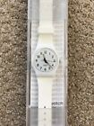 SWATCH UNISEX JUST WHITE SOFT 34MM SILICONE BAND SWISS QUARTZ WATCH GW151O
