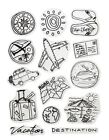 Forever in Time Clear Cling Rubber Stamp Destination Vacation Travel Luggage