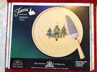 Fiesta Fiestaware Christmas Trio Trees Cake Plate & Server New