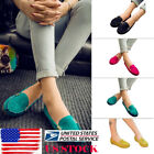 Ladies Metal Buckle Peas Flat Moccasins Womens Slip on Casual Driving Shoes Size