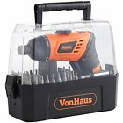 Cordless Screwdriver Pivot Handle Lithium-Ion LED Light 50pc Accessory Kit Bit