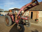 MASSEY FERGUSON 165 2WD LOADER TRACTOR RUNS WELL WITH POWER STEERING