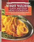 Quick and Easy Menu Cookbook by Inc Staff Weight Watchers International