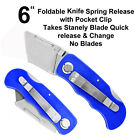 Utility folding back lock trim knife cutter carpet quick change No Stanley Blade