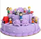 US 12Pcs Peanuts Snoopy Charlie Brown Lucy Franklin Figure Figurine Cake Topper