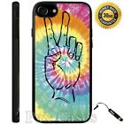 Peace Fingers with Tie Dye Case For iPhone 6S 7 Plus Samsung Galaxy S7 S8 Plus