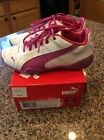 PUMA Girls Youth Size 1 Tune Cat B 2 JR Pink White Sneakers Shoes