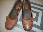 Montana Artisan Crafted Brown Leather Slip On Shoes Size 75 M