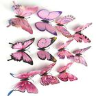 12pc Prrety3D Butterfly Flowers Wall Sticker For Home Room Bedroom Fridge Decor