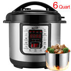 7-in-1 Electric Pressure Cooker Programmable Stainless Steel 6 Quart 1000-Watt