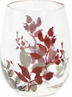 Corelle Kyoto Leaves 16 oz. Acrylic Stemless Wine Glass Set of 4