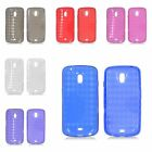 For Samsung Galaxy Nexus Prime i515 Transparent Checker TPU Rubber Skin Gel Case
