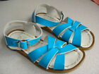 Saltwater Sandals TURQUOISE BLUE size 11 Youth in Excellent Condition