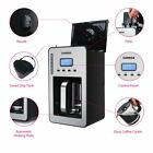 12 cups Programmable Coffee Maker with LCD Display Black Coffee Maker Automatic