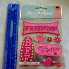 Jolees Boutique FRIENDS Package of 9 Dimensional Stickers