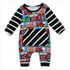 Newborn Infant Baby Kid Boy Outfit Clothes Superhero Romper Jumpsuit Bodysuit US