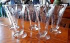 Morgantown Footed Tumbler Glasses 7688-1-2-3 Cut Plant On Bowl 6 1/8