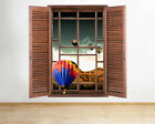 Wall Stickers Hot Air Balloon Sky Mountains Window Decal 3D Art Vinyl Room F214