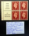 GB 1937 GVI 1d Cyl Booklet Pane As Described NB3529
