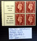 GB 1937 GVI 1d Cyl Booklet Pane As Described NB3530