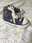 Boys Converse Navy Blue All Star Low Baby Infant SZ 5 Tennis Shoes Sneakers