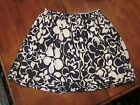 Lands End Girls Navy White Tropical Hawaiian Print Cotton Skirt L 14 Large