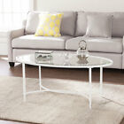 Varick Gallery Prestridge Metal Glass Oval Coffee Table