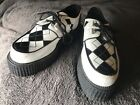 Demonia Creepers Argyle punk rockabilly size 105