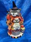 Fitz &Floyd Halloween Kitty Witches Musical Cackle & Laugh Figurine 2063 Retired