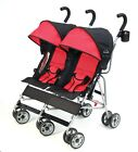 Cloud Side-by-Side Double Umbrella Stroller with 3-Point Safety System Scarlet