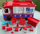 EVEL KNIEVEL SCRAMBLE VAN 1973 IDEAL Vintage parts accessories motorcycle toy
