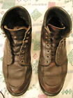RED WING MENS BOOTS SIZE 11 WIDE OXBLOOD WORK BOOT SUPER SOLE VINTAGE