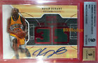 2008-09 HOT PROSPECTS NUMBERS AUTO RED: KEVIN DURANT #1 5 AUTOGRAPH DUAL SWATCH