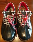 Womens Polar Edge Weather Shoes Houndstooth Size 6