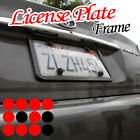 Fit MERCEDEZ Slim Carbon Fiber License Plate Frame Front or Rear+ Clear Cover