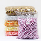 3 4 6 8mm assorted No Hole Round Pearl loose Acrylic beads crafts jewelry making