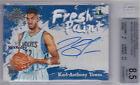 2015-16 COURT KINGS FRESH PAINT AUTO:KARL-ANTHONY TOWNS #2 RC AUTOGRAPH BGS 2x10