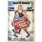 SOME LIKE IT HOT Movie Poster  32x47 in 1959 Billy Wilder Marilyn Monro
