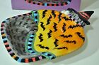 FITZ & FLOYD Halloween KITTY WITCHES with Bats Canape Decorative Plate 2063/71