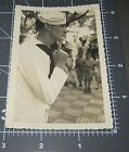 Sailor Man KISS ME RIGHT HERE Points to Face Navy WW2 Vintage Gay Snapshot PHOTO