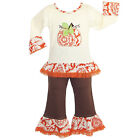 AnnLoren Little Girls 2 3T Boutique Autumn Pumpkin Patch Shirt  Pants Clothes