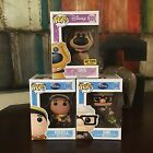 Funko Pop Disney Up Hot Topic Exclusive Flocked Dug Carl Russell 3 Figure Set
