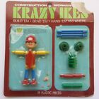 VINTAGE 1969 KRAZY CRAZY IKES CONSTRUCTION WORKER BUILD-A-FIGURE SEALED  WHITMAN