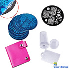 Nail Art Image Stamp Stamping Plates Manicure Template Tools Kit Tool Set Lot